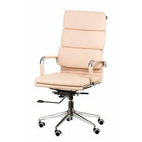Офісне бежеве крісло Solano 2 artleather beige для роботи за комп'ютером