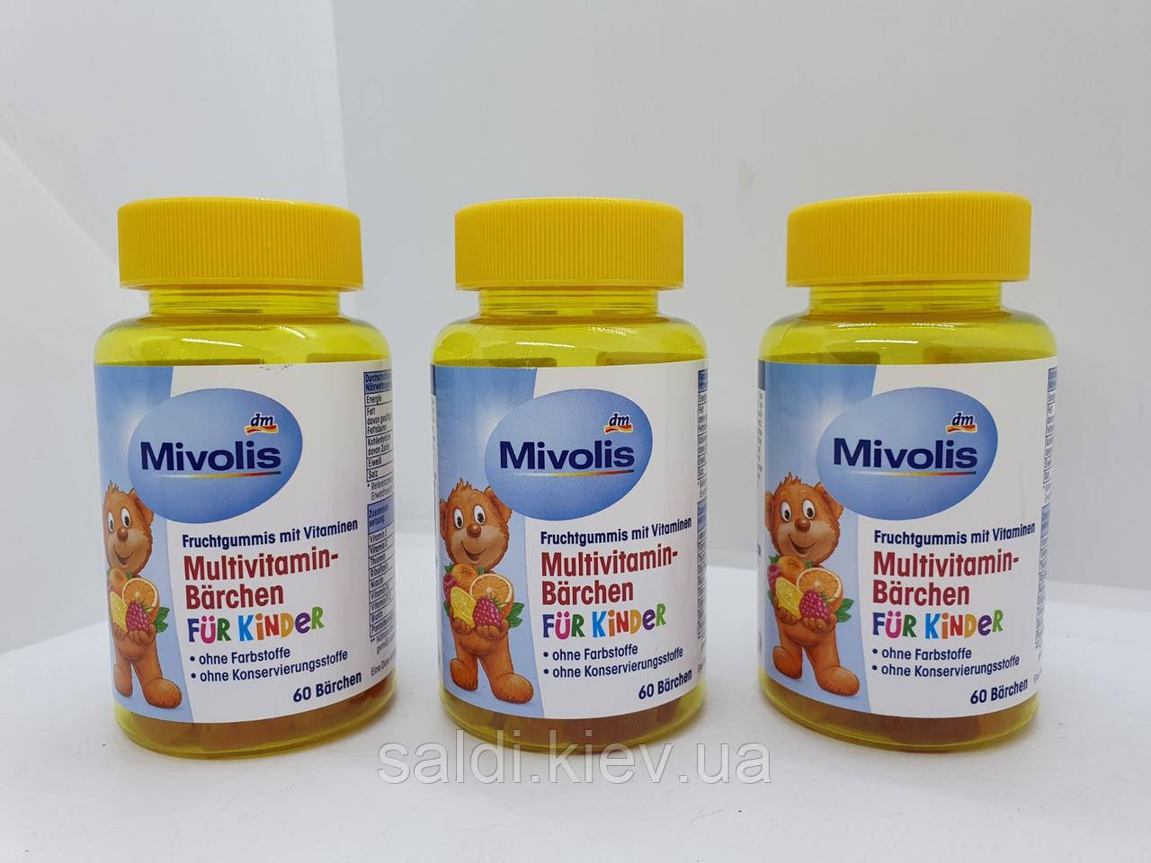 Мультивитамины для детей Mivolis Multivitamin Kinder 60 шт