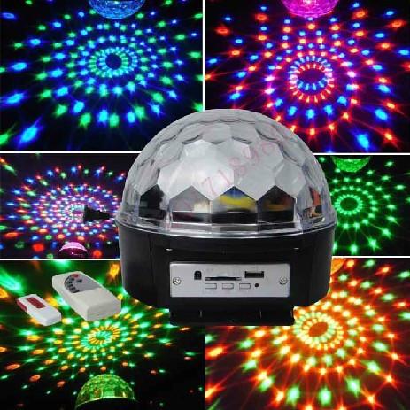 Музыкальный мини-проектор с Bluetooth для вечеринок LED Crystal magic ball light MP3