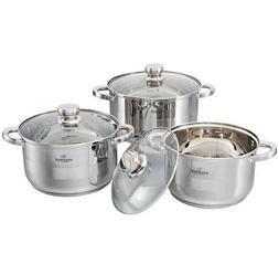 Набор кухонной посуды Bohmann ВН 71242-6 6 предметов 3 кастрюли с крышками