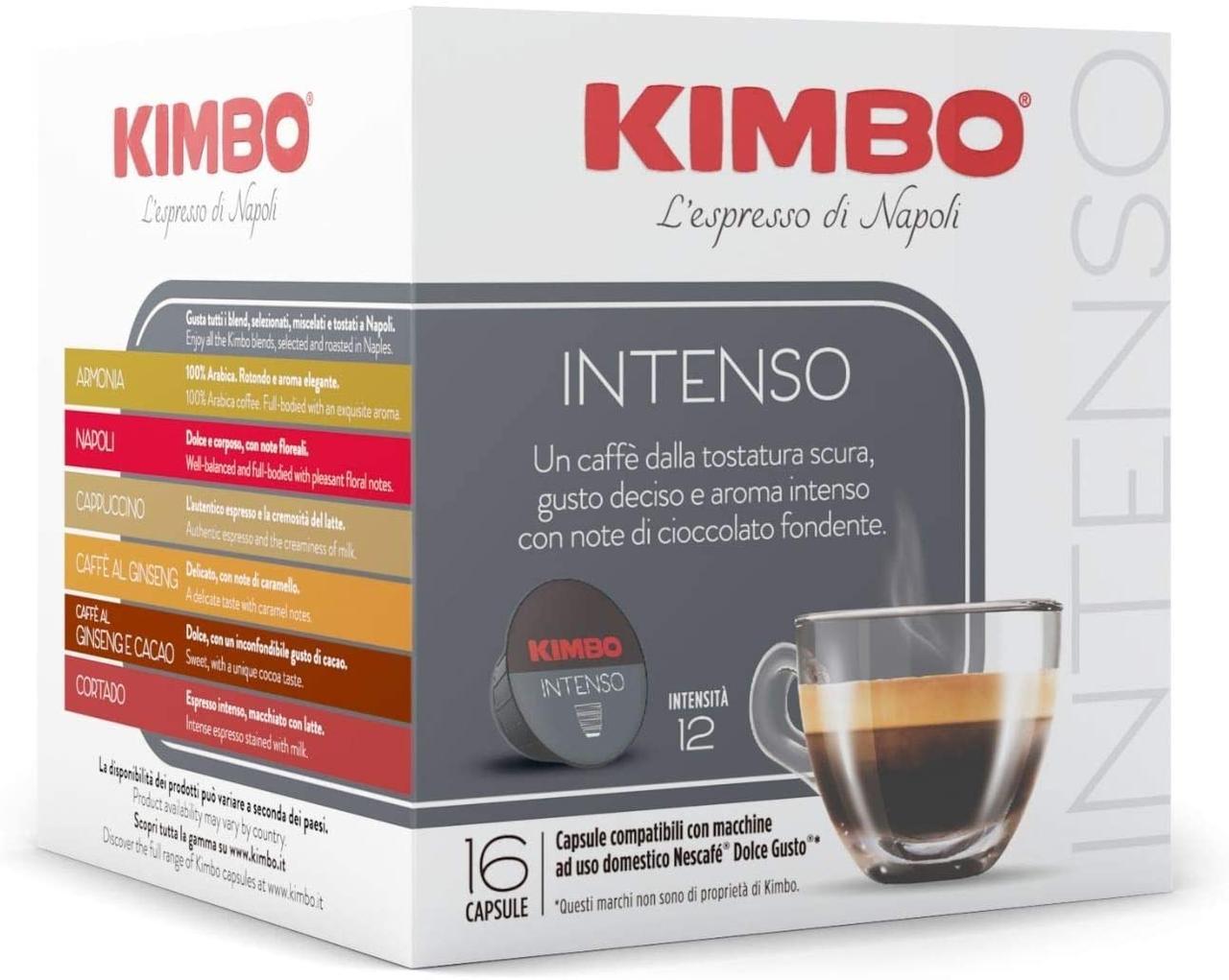 ПРИМЯТ УГОЛОК! Dolce Gusto KIMBO Intenso  - Дольче густо Кимбо Интенсо  (16 капсул = 16 порций)