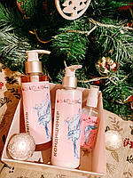 Подарочный набор косметики NaNiBeauty Шампунь кератин, кондиционер, спрей для волос с кератином