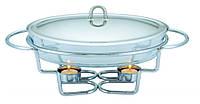 Марміт настільний скляний Con Brio CB-204 (1.5 л) | страва з підігрівом на підставці Con Brio, фото 1