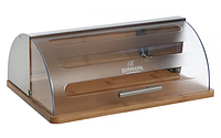 Хлебница Bohmann BH 7255 деревянная с пластиковой откидной крышкой, фото 1