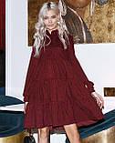 Женское зимнее платье осеннее черное бежевое зеленое бордовое синее коричневое 42 44 46 48 вельветовое теплое, фото 2