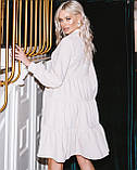 Женское зимнее платье осеннее черное бежевое зеленое бордовое синее коричневое 42 44 46 48 вельветовое теплое, фото 7