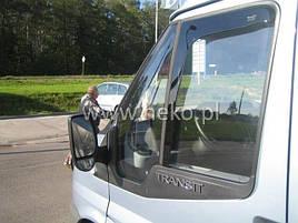 Дефлекторы окон (ветровики) Ford Transit 2006 -> 2D (вставные, кт - 2шт)