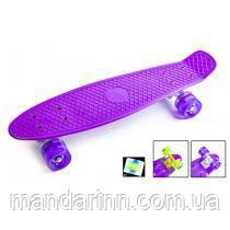 Fish Скейт Original 22 Penny Фіолетовий LED Фіолетові колеса