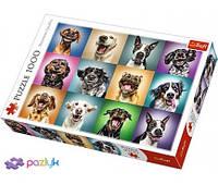 """Пазли - (1000 елм.) """"Смішні портрети собак""""/Trefl(10462)"""