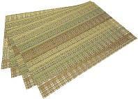 Набор 4 сервировочных коврика Fissman Cyprian-649 прямоугольные 45х30см пвх psgFN-649, КОД: 2370501
