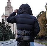 Мужской пуховик MONCLER D10200 черный, фото 3