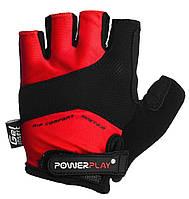 Велоперчатки PowerPlay L Красные 5013DLRed, КОД: 977456