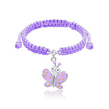 Браслет плетеный UMa UMi Бабочка фиолетовая с глазами 419543000613, КОД: 2448166