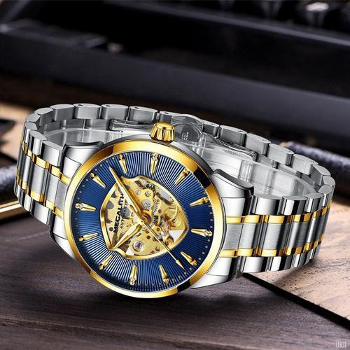 Наручний годинник Megalith 8210M Gold-Blue