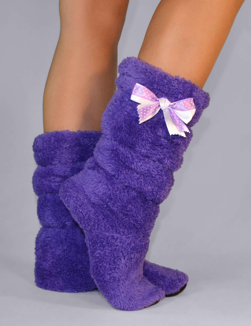 """Махрові тапочки, чобітки """"Purple"""""""
