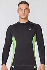 Мужской спортивный лонгслив Radical Fury Duo LS L Черно-зеленый r0538, КОД: 1191875