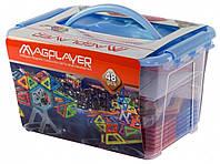 Конструктор Magplayer магнитный набор 48 элемент MPT-48, КОД: 2436058