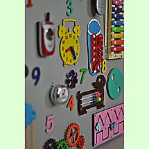 Развивающая доска размер 60*80 Бизиборд для детей, фото 3
