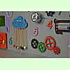 Развивающая доска размер 60*80 Бизиборд для детей, фото 5