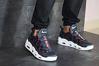 Мужские кроссовки Nike Найк Air More Money, кожа, пена, синие с белым. 43