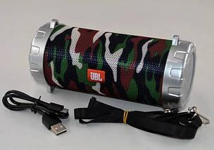 Портативная колонка JBL S07 - мобильная bluetooth колонка cо светомузыкой, FM радио, MP3 плеер (Хаки), фото 2