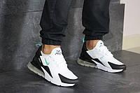 Мужские кроссовки Nike Air Max 270, сетка, пена, белые с мятой. 44
