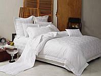 Комплект постельного белья Love You 1 Евро Жаккард 200х220 см Белый psgLY-1-23-2, КОД: 944371