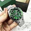 Серебреные мужские наручные часы Megalith 8046M Green кварцевые, фото 7