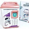 Дитячий сейф скарбничка Robot Bodyguard №.906 з відбитком пальця, кодовим замком і купюропріємником, фото 2