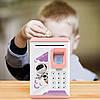 Дитячий сейф скарбничка Robot Bodyguard №.906 з відбитком пальця, кодовим замком і купюропріємником, фото 3