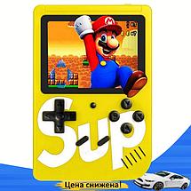 Ігрова приставка SUP Game Box 400в1 Жовта - Приставка Dendy для двох гравців з джойстиком, підключенням до ТБ, фото 2