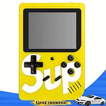 Ігрова приставка SUP Game Box 400в1 Жовта - Приставка Dendy для двох гравців з джойстиком, підключенням до ТБ, фото 3