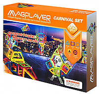 Конструктор Magplayer магнитный набор 72 элемента MPA-72, КОД: 2435205