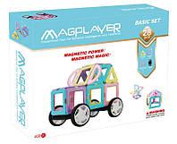 Конструктор Magplayer магнитный набор 28 элемент MPH2-28, КОД: 2436047