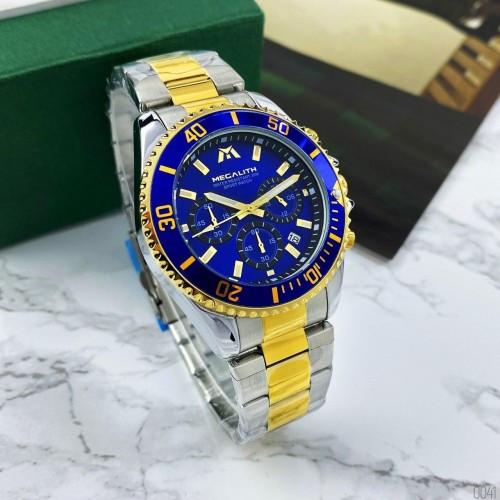 Красивые мужские наручные часы Megalith 8046M Gold