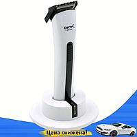 Машинка для стрижки волос Gemei GM-725 - Беспроводная аккумуляторная машинка, триммер бритва для усов и бороды