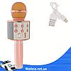Микрофон караоке Wester WS-858 - беспроводной Bluetooth микрофон для караоке с плеером Розово-Золотой, фото 5