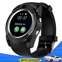 Умные часы Smart Watch V8 сенсорные - смарт часы Чёрные