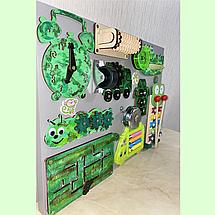 Развивающая доска размер 30*40 см. Бизиборд для детей 16 элементов!, фото 2
