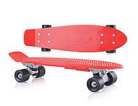 Скейт детский DOLONI TOYS 0151/4 красный, без подсветки