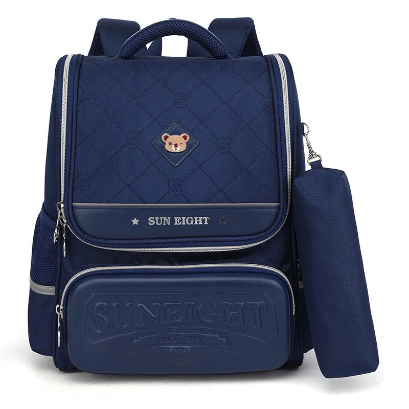 Каркасный школьный ортопедический рюкзак трансформер с пеналом, ранец для мальчика 1, 2, 3, 4, 5 класс
