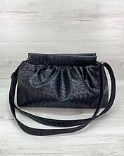 Женская сумка Vivian черная плетеная Welassie