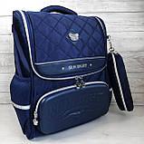 Каркасный школьный ортопедический рюкзак трансформер с пеналом, ранец для мальчика 1, 2, 3, 4, 5 класс, фото 2