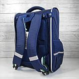 Каркасный школьный ортопедический рюкзак трансформер с пеналом, ранец для мальчика 1, 2, 3, 4, 5 класс, фото 3