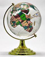 Глобус хрустальный цветной 13х8х8см (18275)