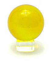 Шар хрустальный на подставке желтый 5см (28891)