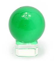 Шар хрустальный на подставке зеленый (4см)
