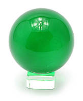 Шар хрустальный на подставке зеленый 8см (28861)