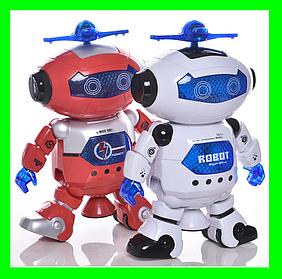 Танцующий робот Dancing Robot детская игрушка музыкальный робот. Красный.