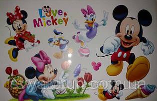 Наклейка Микки Маус и компания